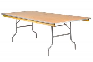 96 by 48 Rectangle Extra Wide Heavy Duty Table