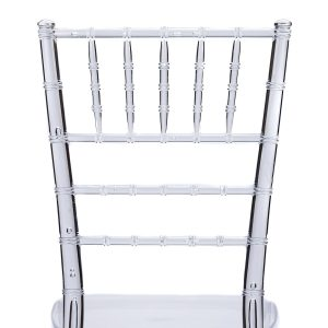 Clear Resin Chiavari Chair Back - Zoomed