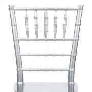 Silver Resin Mono Bloc Chiavari Chair Back - Zoomed