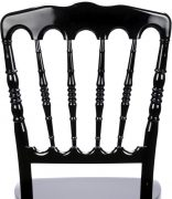 Black Resin Steel Core Napoleon Chair Back - Zoomed