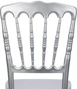 Silver Resin Steel Core Napoleon Chair Back - Zoomed
