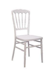White Resin Steel Core Napoleon Chair