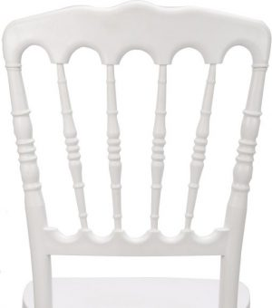 White Resin Steel-Core Napoleon Chair Back - Zoomed