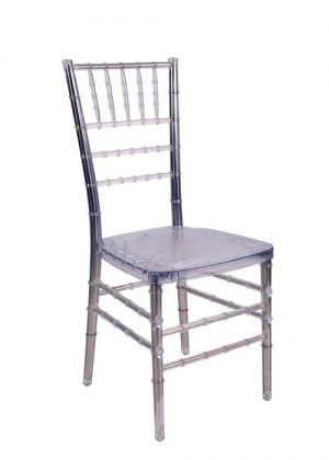 "Clear Resin ""Steel-Core"" Chiavari Chair"