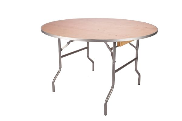 48-inch Round Plywood Table