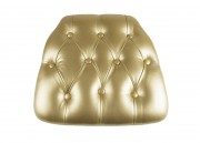 Gold Vinyl Wood Base Tufted Chiavari Chair Cushion