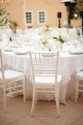 White Wood Chiavari Chair in Setting