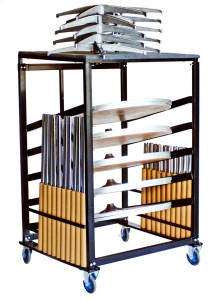"""Steel Cocktail Table Cart for 30"""" Tables"""