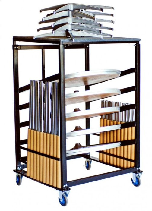 """Steel Cocktail Table Cart for 36"""" Tables"""