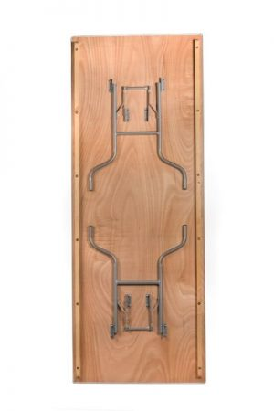 """96""""x36"""" Rectangle Extra Wide """"Heavy Duty"""" Plywood Banquet Table, Metal Edge"""