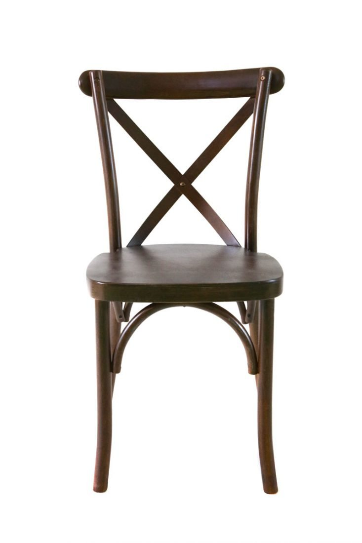 Espresso Wood Cross Back Chair Front ...