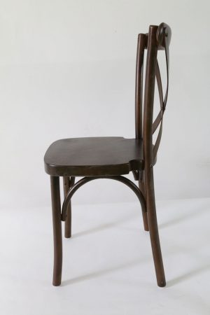 Espresso Wood Cross Back Chair Front