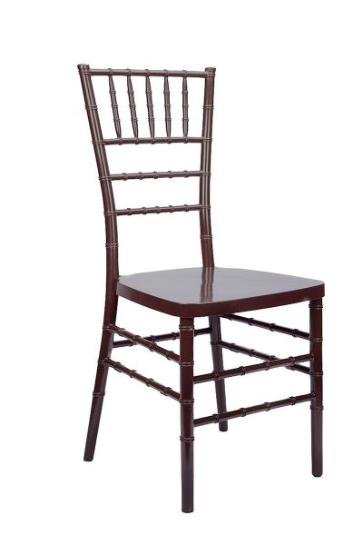 "Fruitwood Resin ""Inner Steel-Core"" Stacking Chiavari Chair"