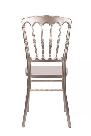 """Champagne Resin """"Inner Steel-Core"""" Napoleon Chair"""