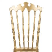 Gold VIP Chair with Gold Tufted Vinyl Cushion