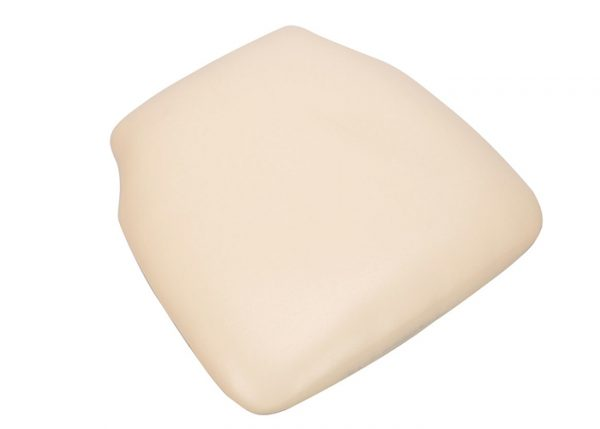 Ivory Vinyl Wood Base Chiavari Chair Cushion