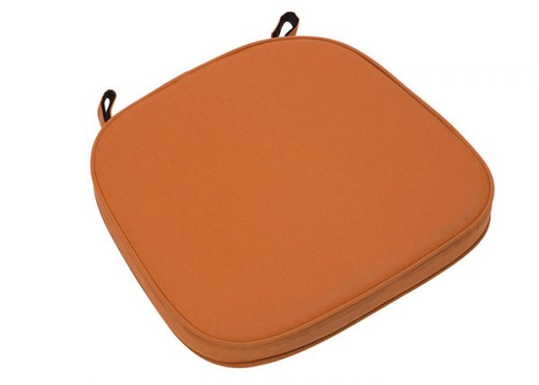 "Orange Extra Thick ""High Density"" Velcro Strap Chiavari Chair Cushion"