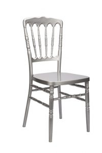 "Silver Resin ""Inner Steel-Core"" Napoleon Chair"