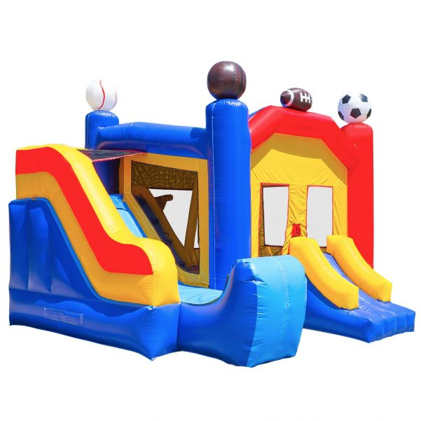 Commercial Grade Combo Sports Bounce House with Blower 1