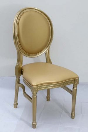 Gold Resin Louis Pop Chair with Gold Back Rest 1