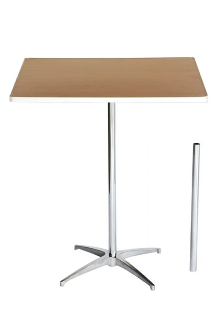 36 Square Plywood Cocktail Table Kit The Chiavari Chair Company