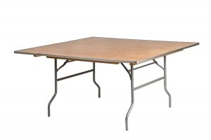 60 Inch Square Heavy Duty Plywood Table