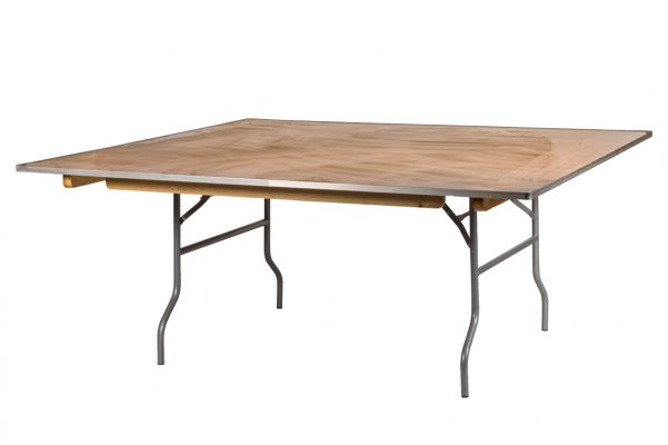 72 Inch Square Heavy Duty Plywood Table