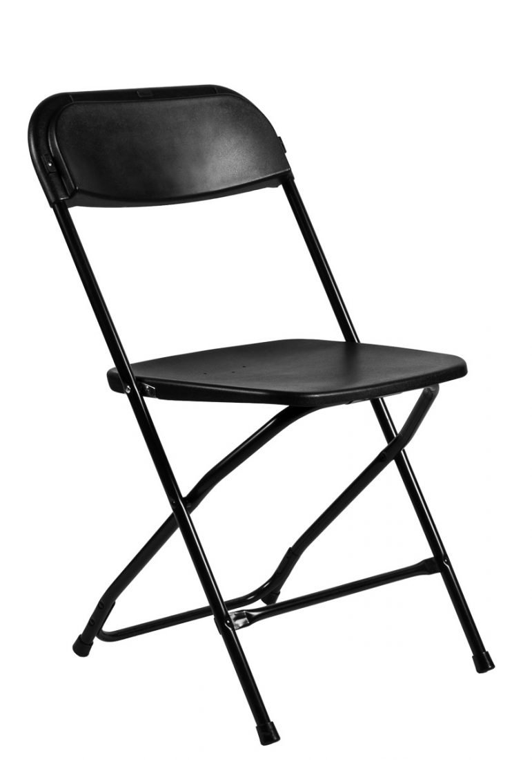 Ordinaire Samson Series Black Folding Chair