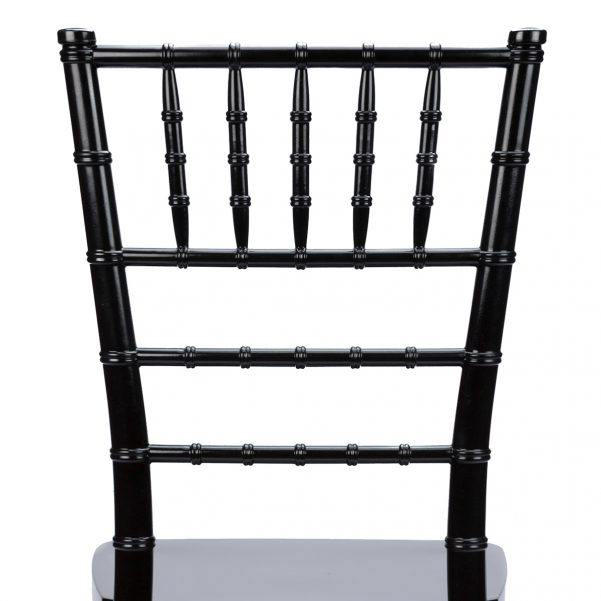 Black Resin Mono Bloc Chiavari Chair Back - Zoomed