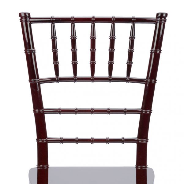 Mahogany Chiavari Chair Back - Zoomed
