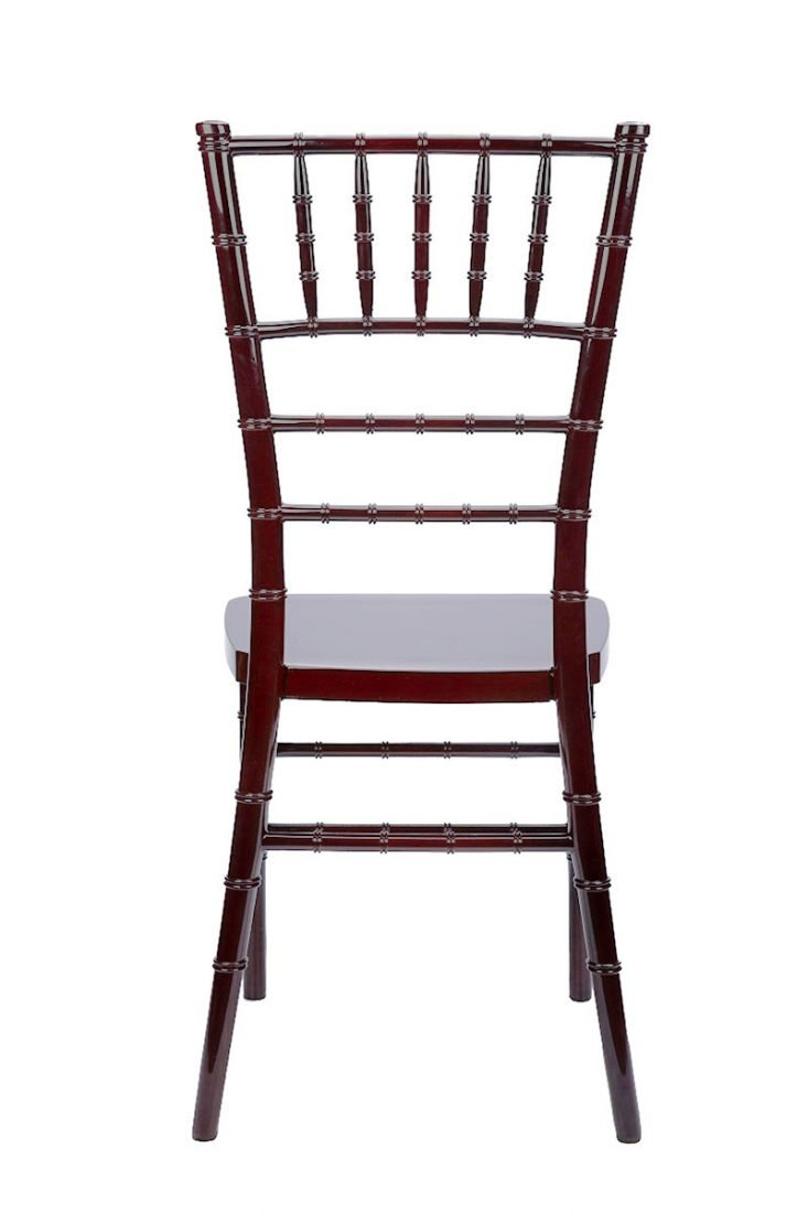 mahogany resin quot inner steel quot chiavari chair the