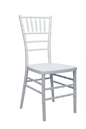 White Resin Mono Bloc Chiavari Chair