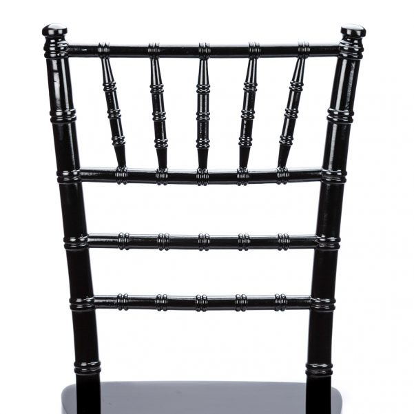Black Wood Chiavari Chair Back - Zoomed