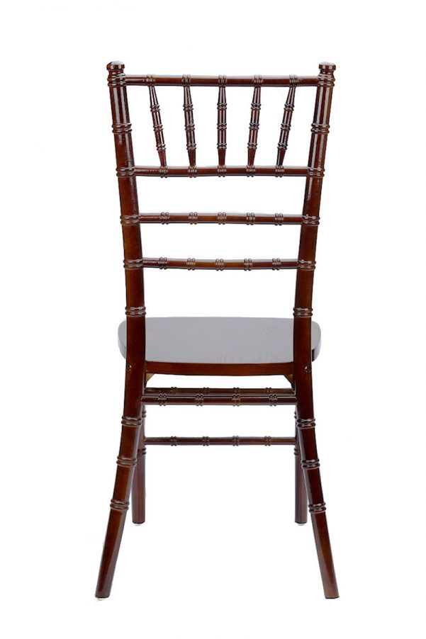Fruitwood Espresso Chiavari Chair Back