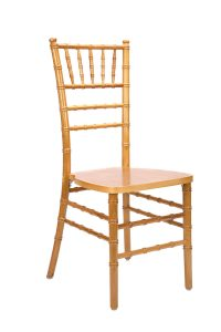 natural wood stacking chiavari chair