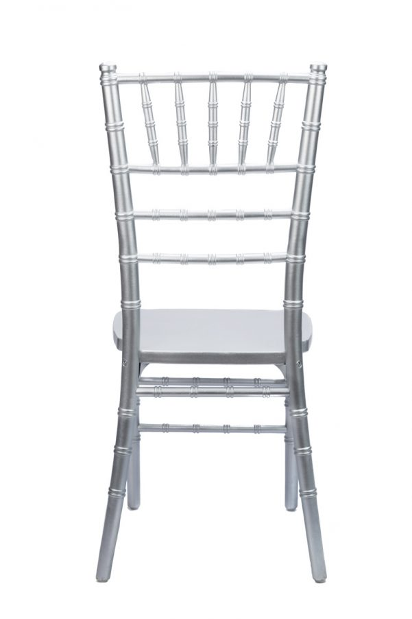 Silver Wood Chiavari Chair Back