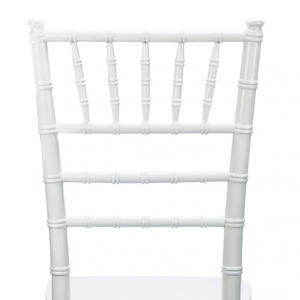 White Wood Chiavari Chair Back - Zoomed