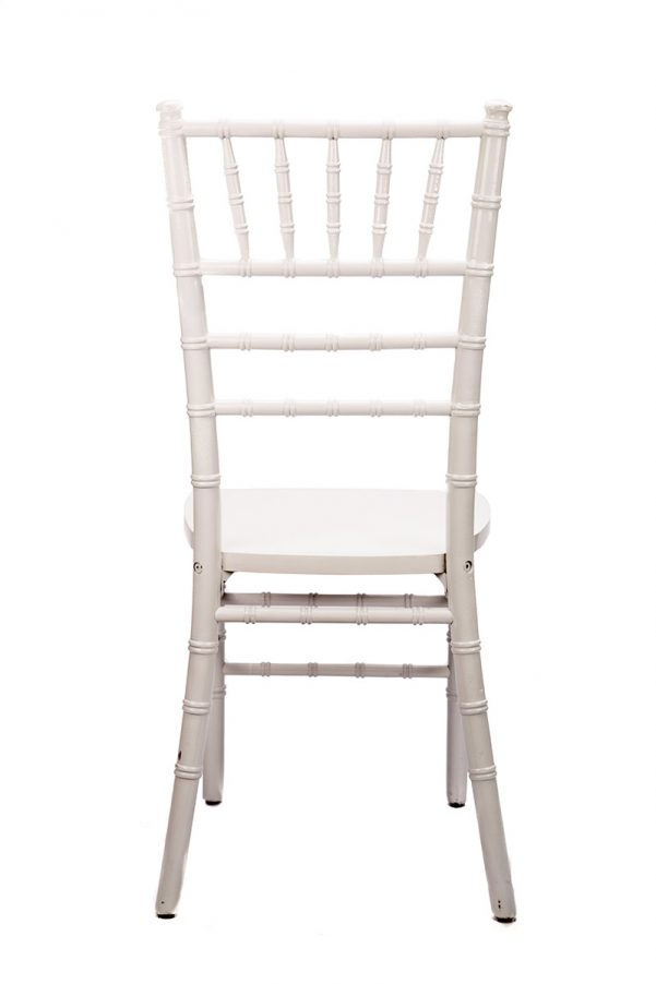 White Wood Chiavari Chair Back