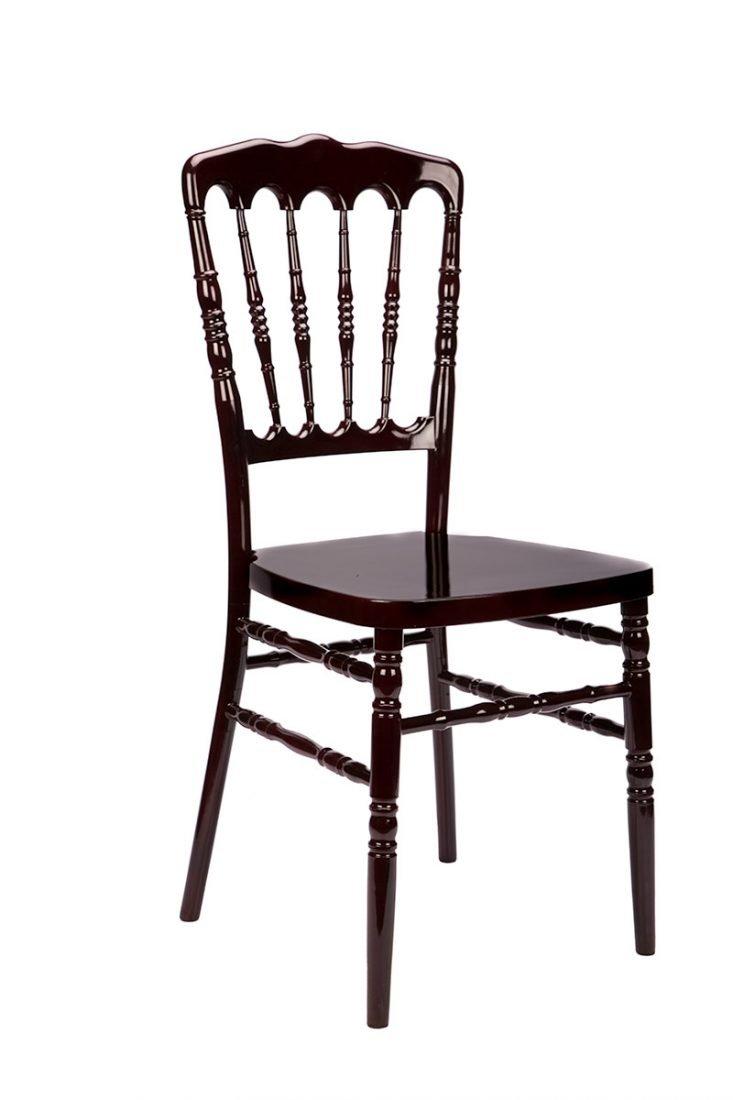 Chair Napoleon Resin Mahogany Steel Core 1