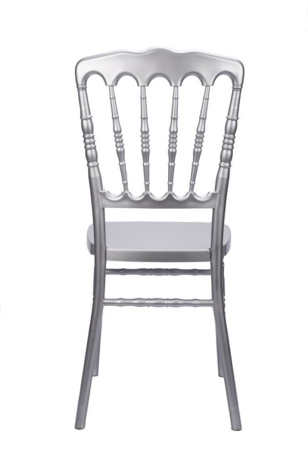 Silver Resin Steel Core Napoleon Chair Back