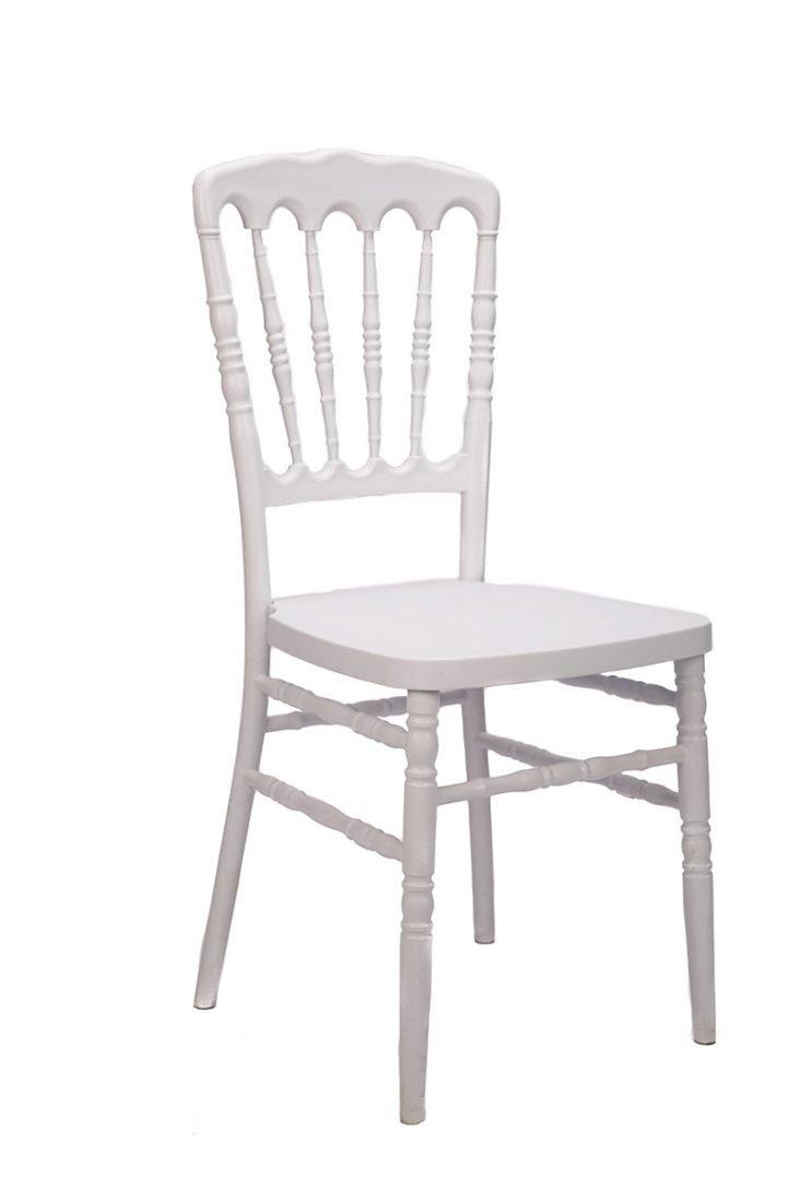 White Resin Steel Core Napoleon Chair