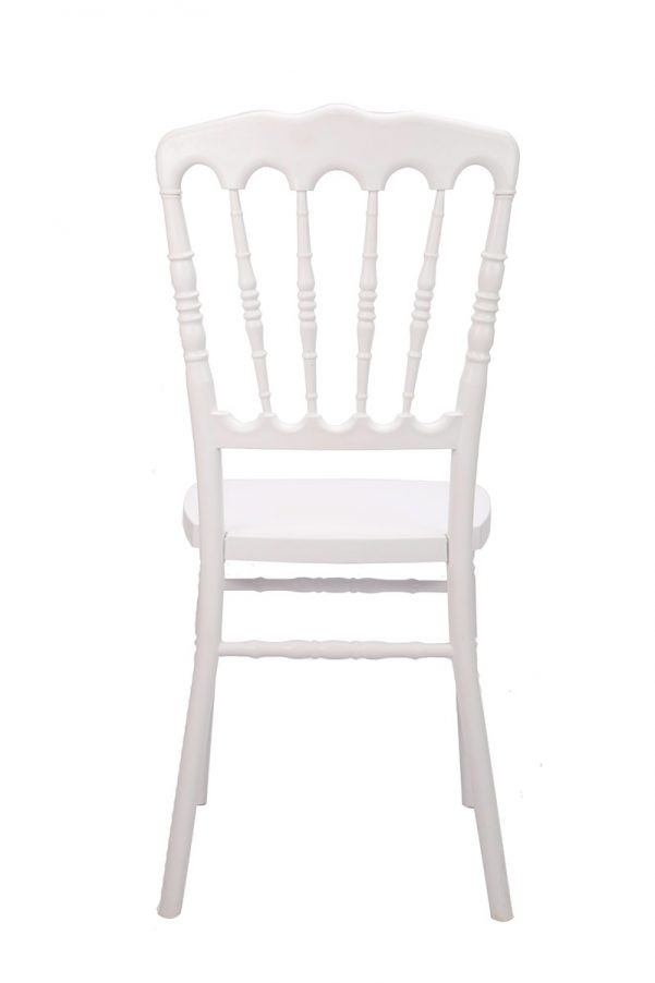 White Resin Steel Core Napoleon Chair Back
