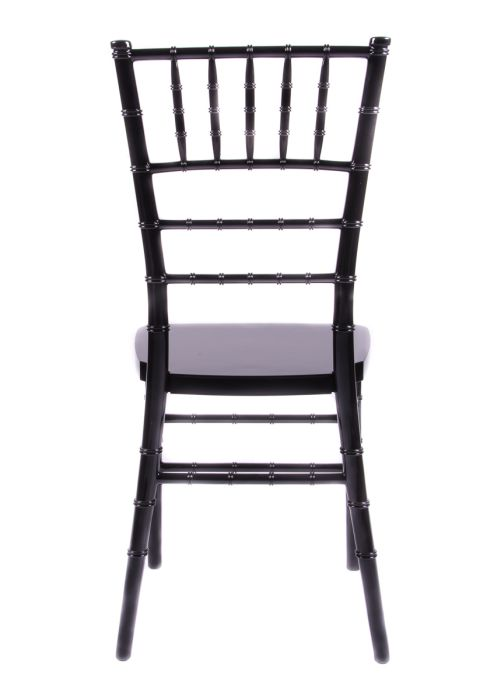 "Country Club Series Black Resin ""Steel-Core"" Chiavari Chair"