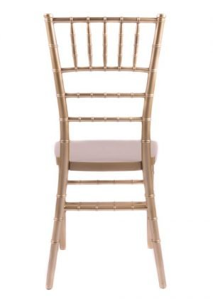 "Country Club Series Gold Resin ""Steel-Core"" Chiavari Chair"