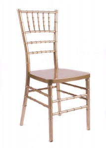 "Country Club Series Gold Resin ""Steel-Core"" Chiavari Chair"