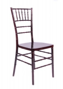 "Country Club Series Mahogany Resin ""Steel-Core"" Chiavari Chair"