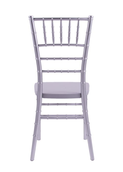 "Country Club Series Silver Resin ""Steel-Core"" Chiavari Chair"