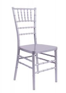 "Country Club Series Silver Resin ""Steel-Core"" Chiavari Chair"