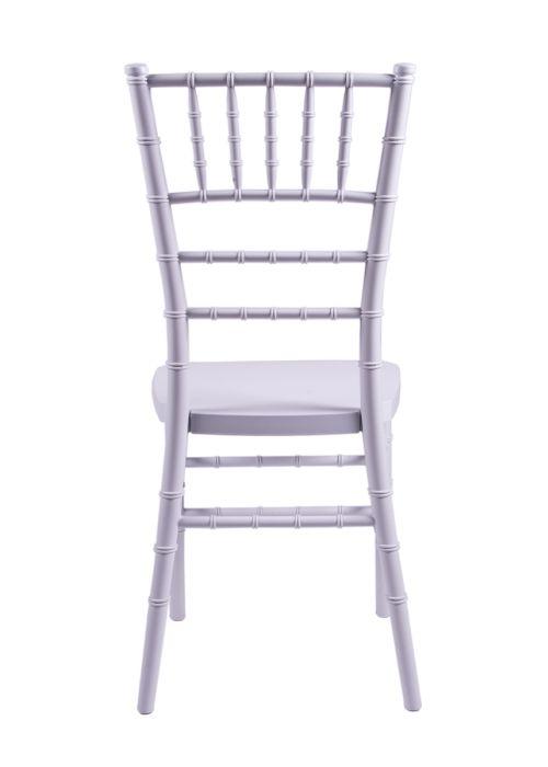 "Country Club Series White Resin ""Steel-Core"" Chiavari Chair"