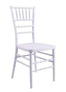 "Country Club Series White Resin ""Steel-Core"" Chiavari Chair"